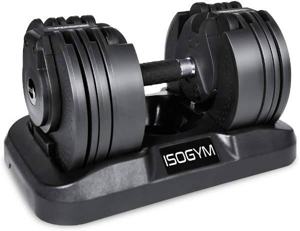 ISOGYM Adjustable Dumbbell 2kg-20kg Weight Set