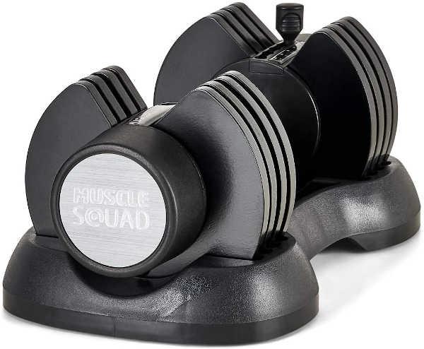 MuscleSquad 12.5kg Adjustable Dumbbell