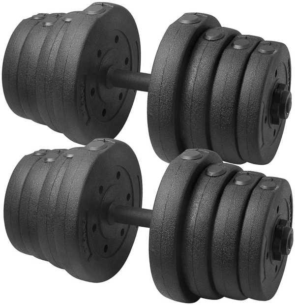 Yaheetech 30KG Adjustable Dumbbells Weight Set